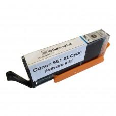 Eetbare inkt Canon CLI-551 XL cyaan cartridge (huismerk)